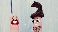 表情动画,指头被蛇吓到了?