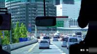 车窗外的东京 流动的城市风景 大巴车里看东京