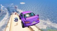 车祸模拟器:驾车挑战飞跃恶魔之手,最后一位选手太可惜了!