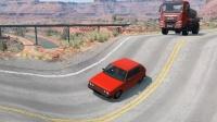 车祸模拟器:公路上出现一个巨坑,路过的汽车要遭殃了