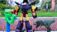 【玩具故事】咖宝车神猛犸莫斯打跑霸王龙,小恐龙知错就改主动道歉