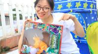 【咖宝拆箱】咖宝车神角龙伊顿困在玩具盒里,明明帮三角龙咖宝变身,恐龙咖宝大变形