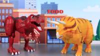 【玩具故事】暴龙迪瓦和角龙伊顿比拼脑筋急转弯,霸王龙和三角龙到底谁更厉害