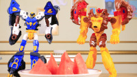 【玩具故事】咖宝车神比赛找西瓜,狮王凯恩找到一个红色西瓜,狂牛法洛找到一个黄色西瓜
