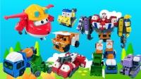 玩具故事:变形工程车合体帮助乐迪,超级飞侠和工程车的玩具故事