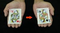 魔术:黑桃Q变红心Q,10倍慢动作教学