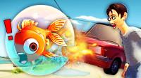 模拟鱼 精神小鱼被恶魔放进了玻璃球,憋炸气了!小熙解说