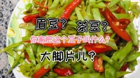 时令蔬菜眉豆茶豆四季豆清炒豆角家常美食下饭菜