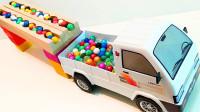 积木拼出超级轨道,超多彩色弹珠可以跑到玩具车里吗?益智游戏