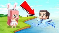 【木鱼】迷你世界:木鱼因天气太热,跑去he里游泳,谁知下一秒却。。。