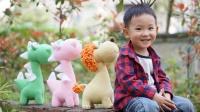 「第158集 恐龙配件与缝合」萌系动物家族 钩针玩偶 毛线娃娃