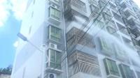 广东紫金县城一小区保障房着火被及时扑灭,无人员伤亡
