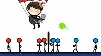【冷节操】跳伞的猫咪打排球