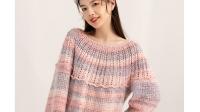 紫苏编织第186集花影圆肩钩针套衫1-5行(2)
