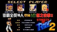 《MD怒之铁拳2:街霸版》街霸16人全员登场