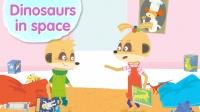 喜欢恐龙的孩子,来唱这首英文儿歌:Dinosaurs in space