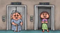 咖子谜题:两人坐电梯上了三楼,她们当中谁先上来的?