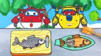 乐迪和多多抓鱼吃鱼 红烧鱼还是糖醋鱼 最后吃的烤鱼