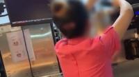麦当劳员工将冰淇淋倒回机器