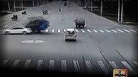 车祸—瞬间交通事故监控录像