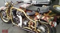 """自制柴油""""第聂伯""""MT16边三轮摩托车  发动机德国哈茨2G40(1000CC)"""