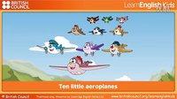 启智学习: 幼儿英语 原声歌曲 十个小飞机 Ten Little aeroplanes