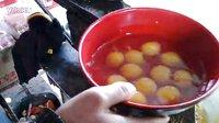 榆次名小吃十二个鸡蛋的鸡蛋灌饼制作