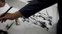 竹子画法--国画教学示范视频(魏来五道示范)侯天明摄