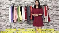 品牌尾货服装批发:韩版秋装长袖连衣裙针织毛衣大版衫走份 50件一份 2份包邮