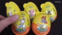 【奇趣蛋拆蛋视频】海绵宝宝双趣蛋  小汽车越野车玩具蛋