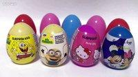 奇趣蛋玩具总动员 海绵宝宝 小黄人 凯蒂猫 米奇米妮出奇蛋视频