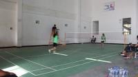 羽毛球女子单打决赛 望谟六中(滕远梅)VS望谟六中(岑如倩)第一局
