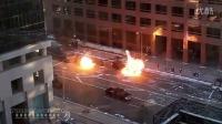 《蝙蝠侠3:黑暗骑士崛起》花絮之卡车从爆炸中穿过