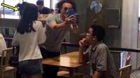 造型满分 陈奕迅携妻女上海度假发型超爆炸 160812