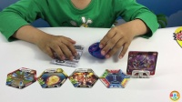 灵动创想爆兽猎人儿童变形卡片玩具深海沧龙