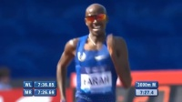莫法拉赫3000米成绩——7分32秒62