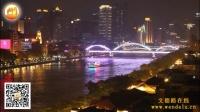 中国广东省广州市珠江夜游旅游游览佛乐佛曲音画视频展播