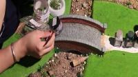 小桥流水场景模型制作教学 AB仿真水水景膏造水剂使用教学教程静态模型沙盘静态情景地台制作指南教程