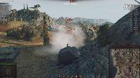 坦克世界外服E-100坦克歼击车大白兔高伤害 13300+