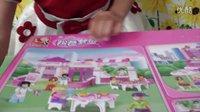 亲子游戏开箱神秘大奖拼装积木益智女孩拼插玩具梦幻城堡惊喜蛋健达奇趣蛋过家家玩具1