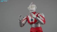 万代SHF初代奥特曼 可动手办模型 宇宙英雄奥特曼 奥特曼 TONY晓小玩具也疯狂 81期