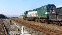 倒着开的HXN5牵引货列(宣城站通过)