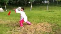 24式养生太极剑背向演练