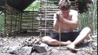 原始技术 - 树条和泥浆搭建小屋