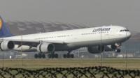北京首都机场拍机—汉莎LH720-A346[D-AIHZ]降落
