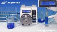 高精度蠕动泵WT600-1F分配流量校正功能演示