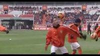 中超第六轮鲁能主场巴西花式足球表演