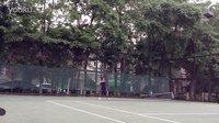 本人网球训练正手