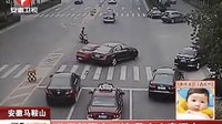 父子驾豪车互撞,上演马路追逐赛