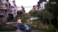 旧金山九曲花街 Lombard Crooked Street in San Francisco
